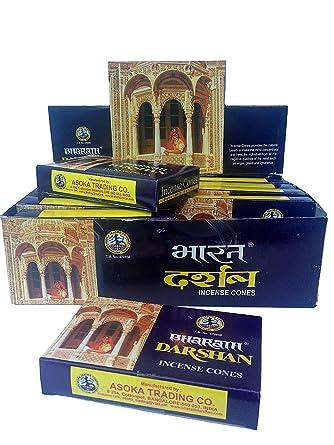 Bharath Darshan – cono de incienso – caso de 12 cajas, 10 conos cada