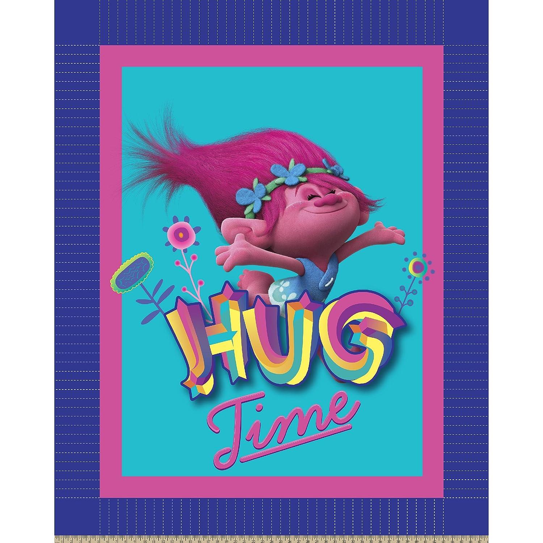 Dreamworks - Trolls 63869-C47C831 Trolls Hug Time No Sew Fleece Throw Kit, Pink