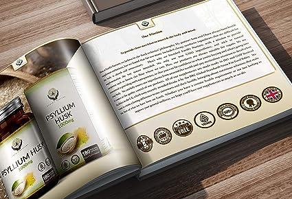EN Cascara de Psyllium 1000mg | 180 Capsulas Veganas | Fibra ...