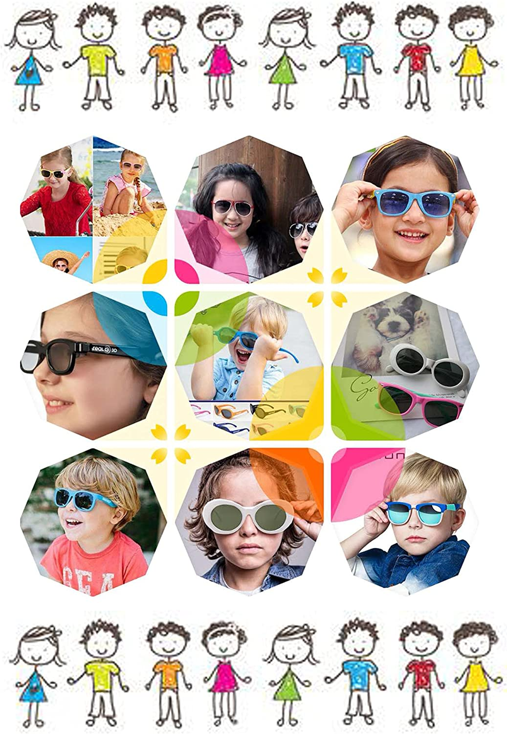 FOURCHEN Retro Vintage Narrow Cat Eye Sunglasses for kids Clout Goggles