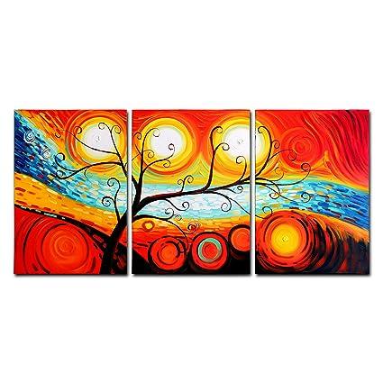 FLY Spray 3-Piece 100% pintado a mano pinturas al óleo Panel ...
