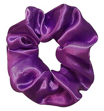 Amazon.com   Satin Hair Scrunchies (4 Pack) (Purple)   Beauty 8097c0a7456