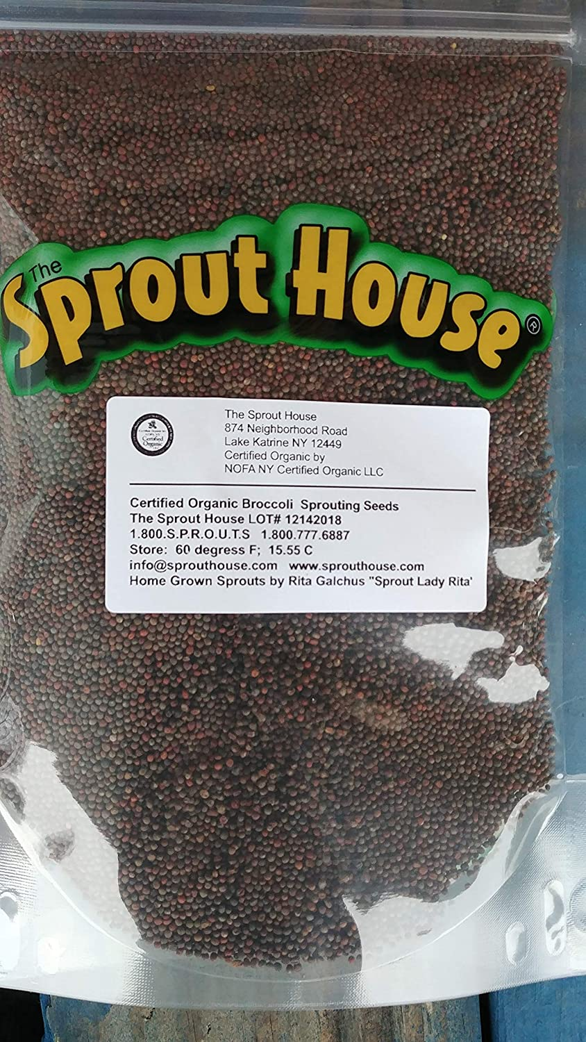 The Sprout House Certified Organic Non-GMO Sprouting Seeds Broccoli 1 Pound