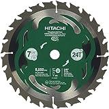 "Hitachi 115429 7-1/4"" 24T Framing/Ripping VPR Blade"