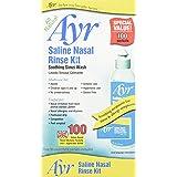 Ayr Saline Nasal Rinse Kit, 100 ct