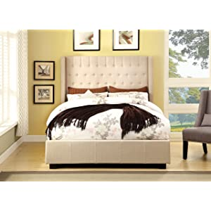 Furniture of America Bellavie Wingback Platform Bed, King