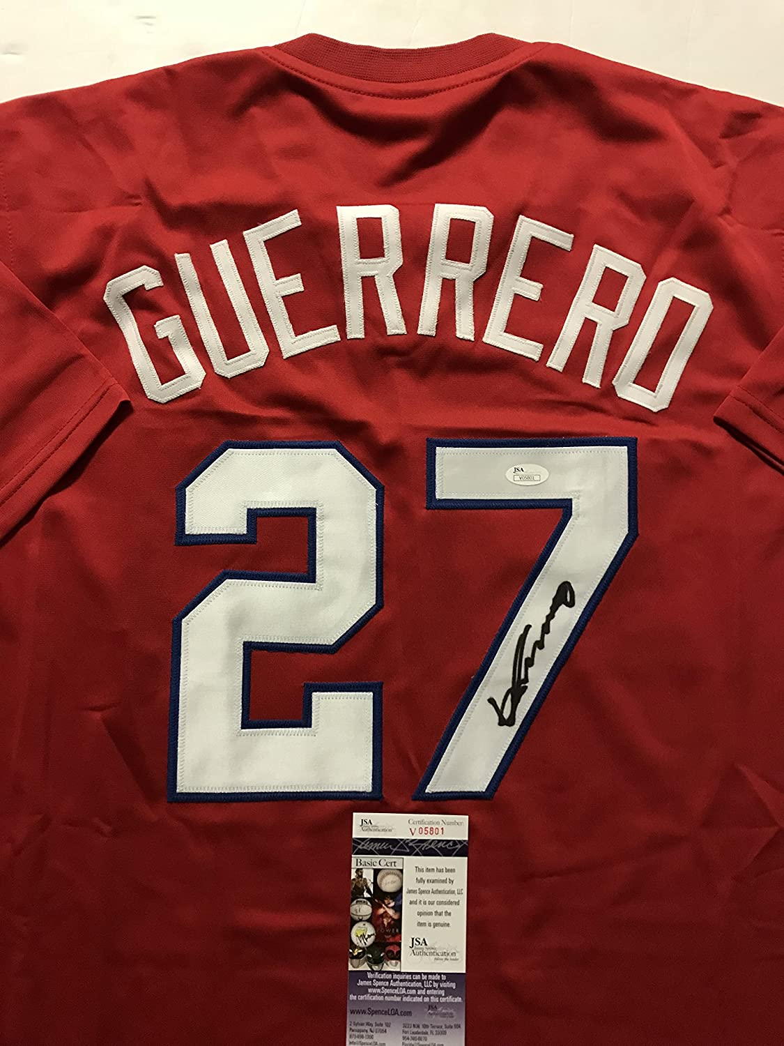 7c12ff233bb Autographed Signed Vladimir Vlad Guerrero Montreal Red Baseball Jersey JSA  COA at Amazon s Sports Collectibles Store