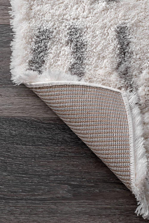 Grey nuLOOM Renata Moroccan Shag Area Rug 5 3 Round
