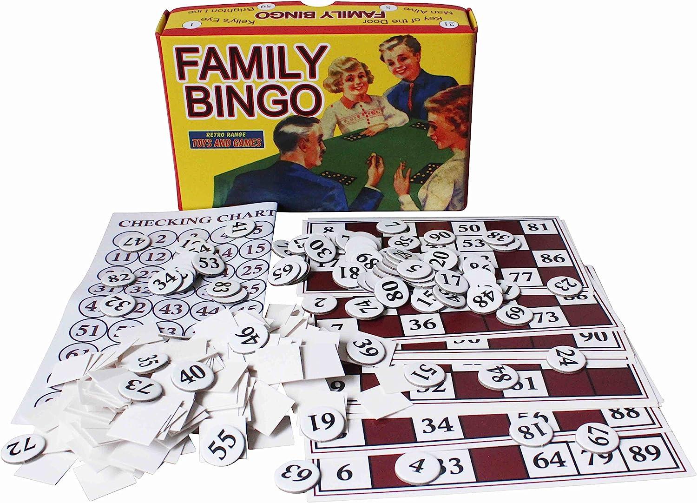 Bingo de House of Marble Noche Fiesta Familiar Juego Retro para Niños y Adultos: Amazon.es: Juguetes y juegos