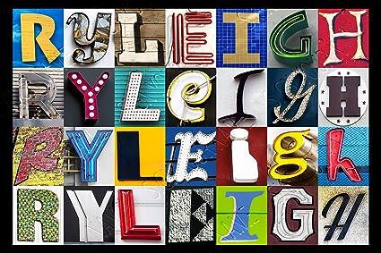 Amazon.com: Ryleigh nombre personalizado Póster utilizando ...