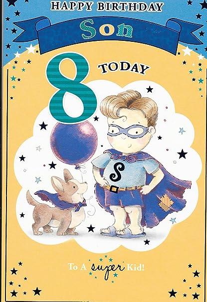 Tarjeta de cumpleaños de Happiñ, para cumpleaños de Son 8 ...