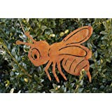 Edelrost Biene Garten Terrasse Tierfigur Insekt Fensterschmuck Sommer Deko