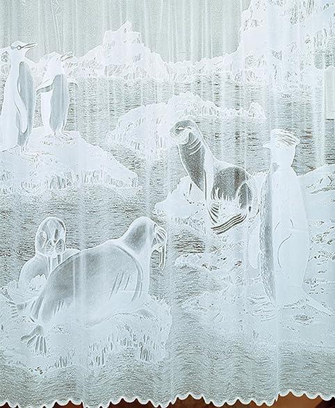 Amazon.com: Shower Curtain, 12 Hooks, Vinyl Lace Textured Design ...