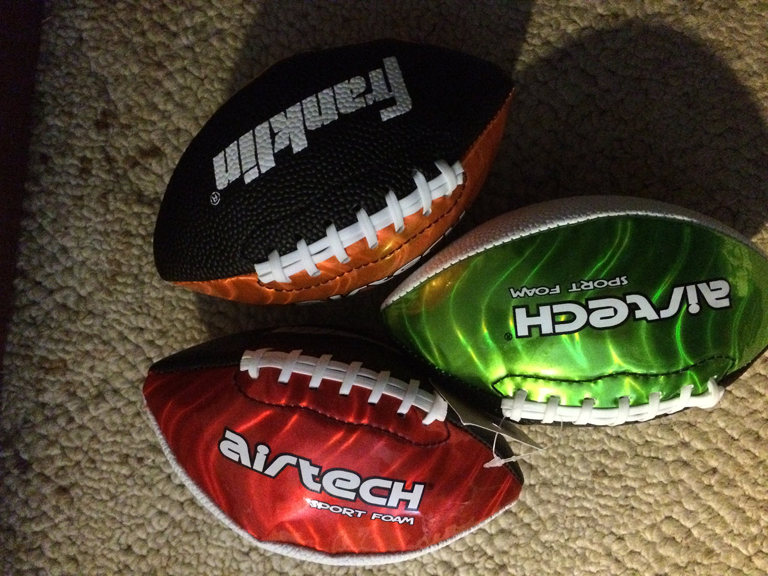 Franklin Air Tech Sport Foam Mini Football, Sold Individually, Colors & Styles Vary