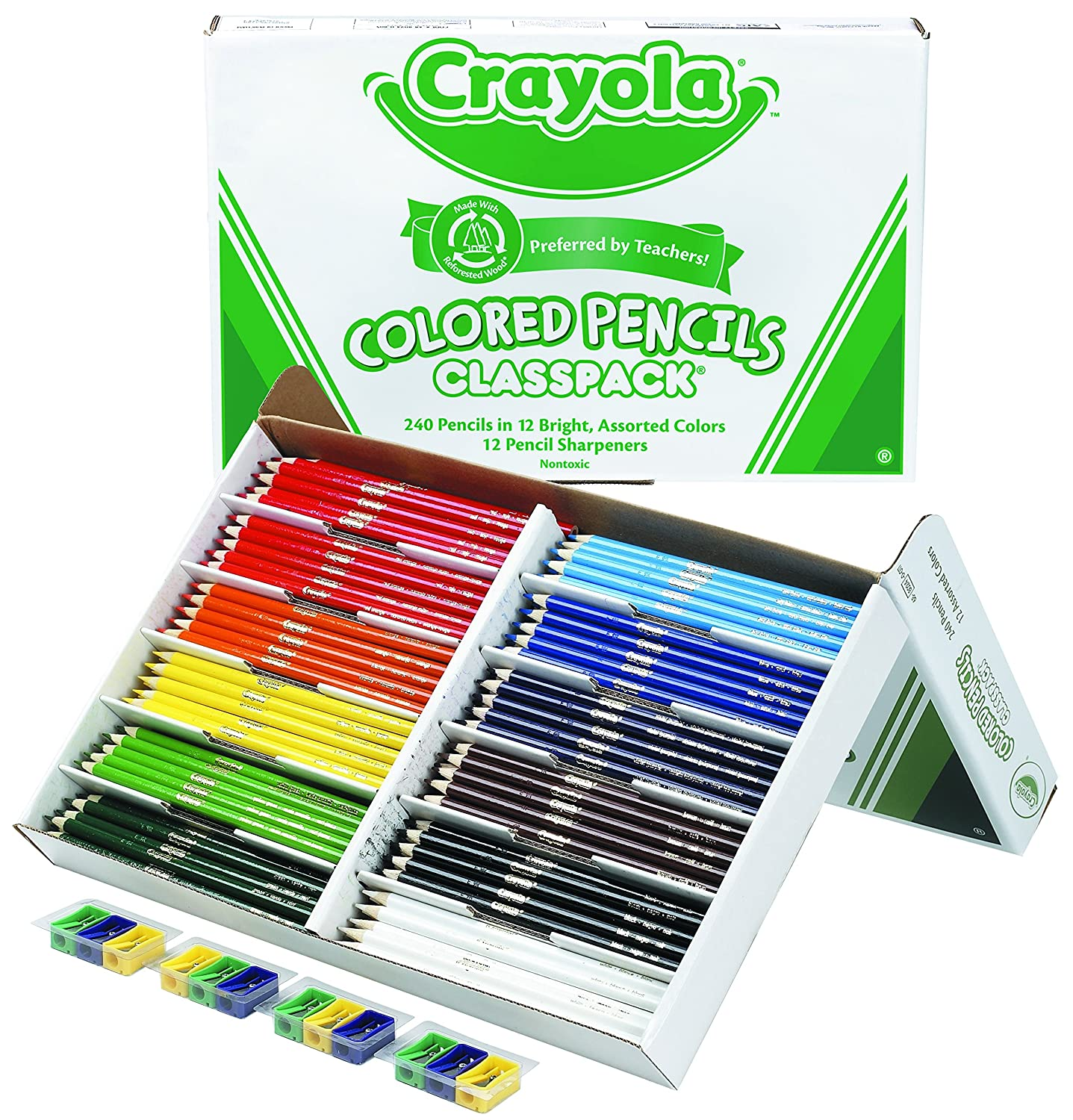 Amazon.com: Crayola Colored Pencil Bulk, 240 Count Classpack, 12 ...