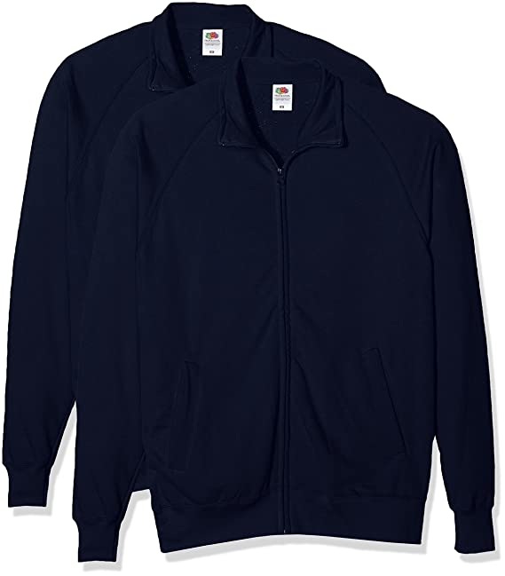 Fruit of the Loom Lightweight Sweat Jacket, chaqueta deportiva Hombre, Azul (Deep Navy