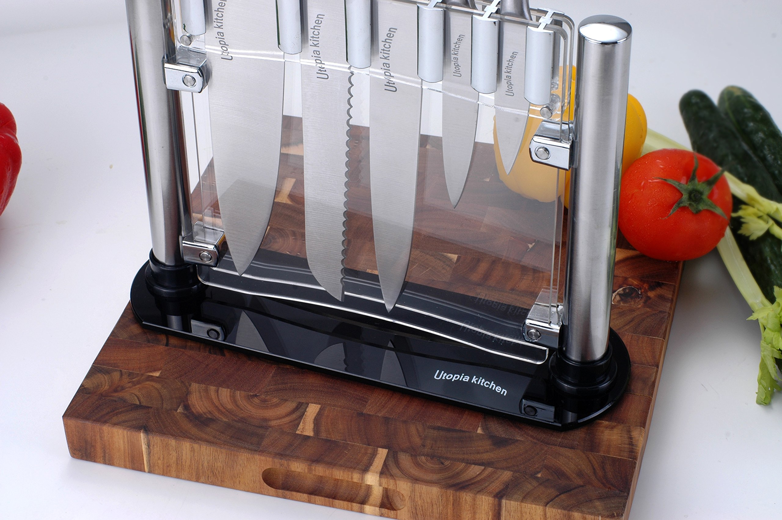 Utopia Kitchen Knife Set - 6 Pieces Stainless Steel Knives with an Acrylic Stand by Utopia Kitchen (Image #3)