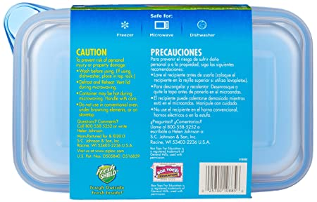 Ziploc Container, Large Rectangle, 2 Count