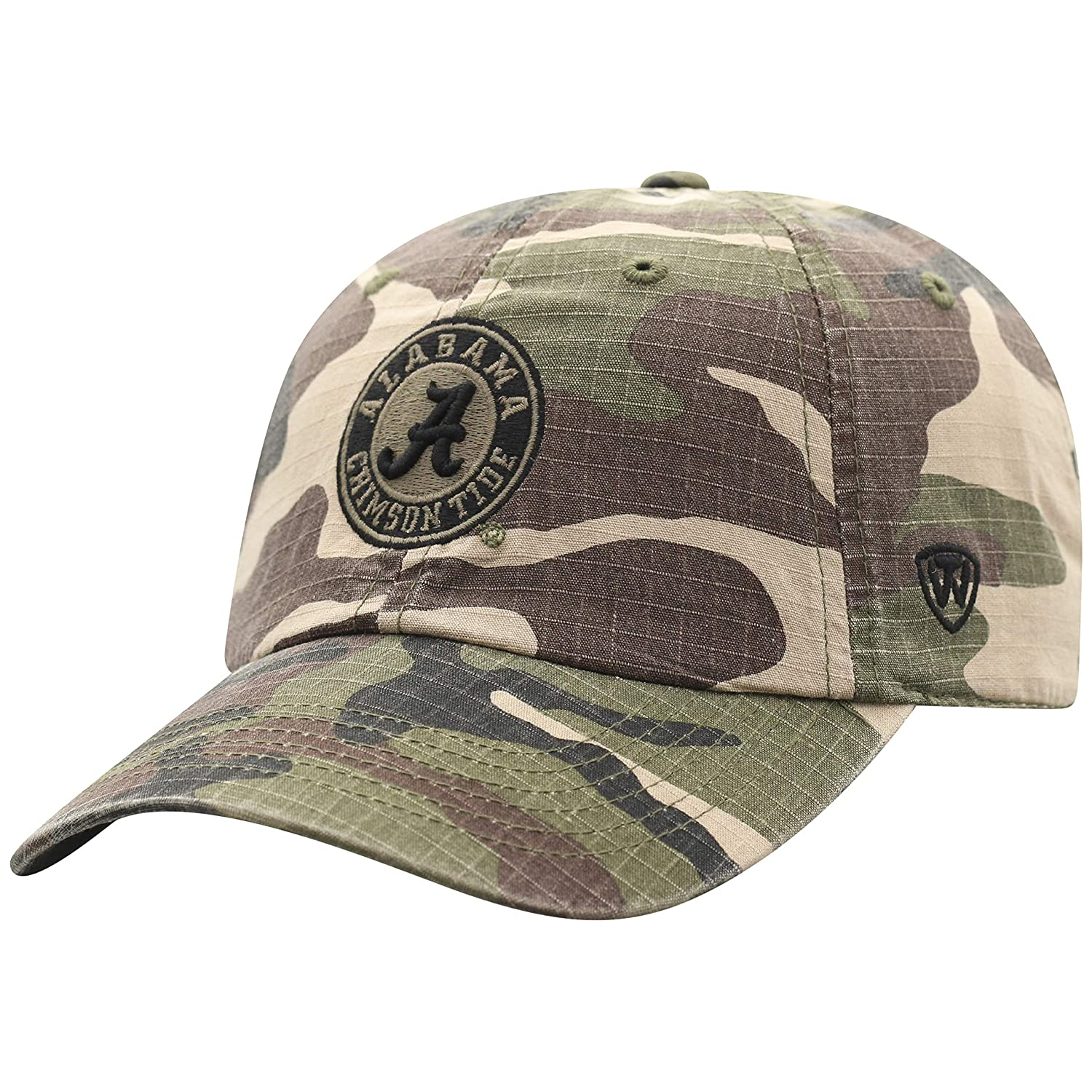super popular d2a73 03b67 Amazon.com   Top of the World Alabama Crimson Tide Men s Camo Hat Icon,  Camo, Adjustable   Clothing