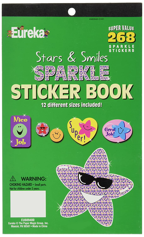 Eureka Back to School Classroom Supplies Assorted Foil Motivational Sticker Book 2000 pcs Paper Magic Group 609411