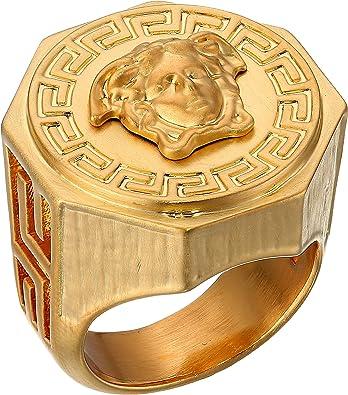 aab70f659ff1 Versace Unisex Greca Medusa Ring Amazon.com
