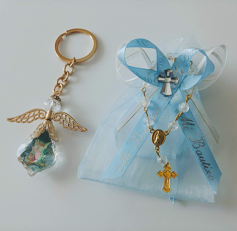 Amazon.com: 12 Organzas Azules de Mi Bautizo de Recuerdo ...