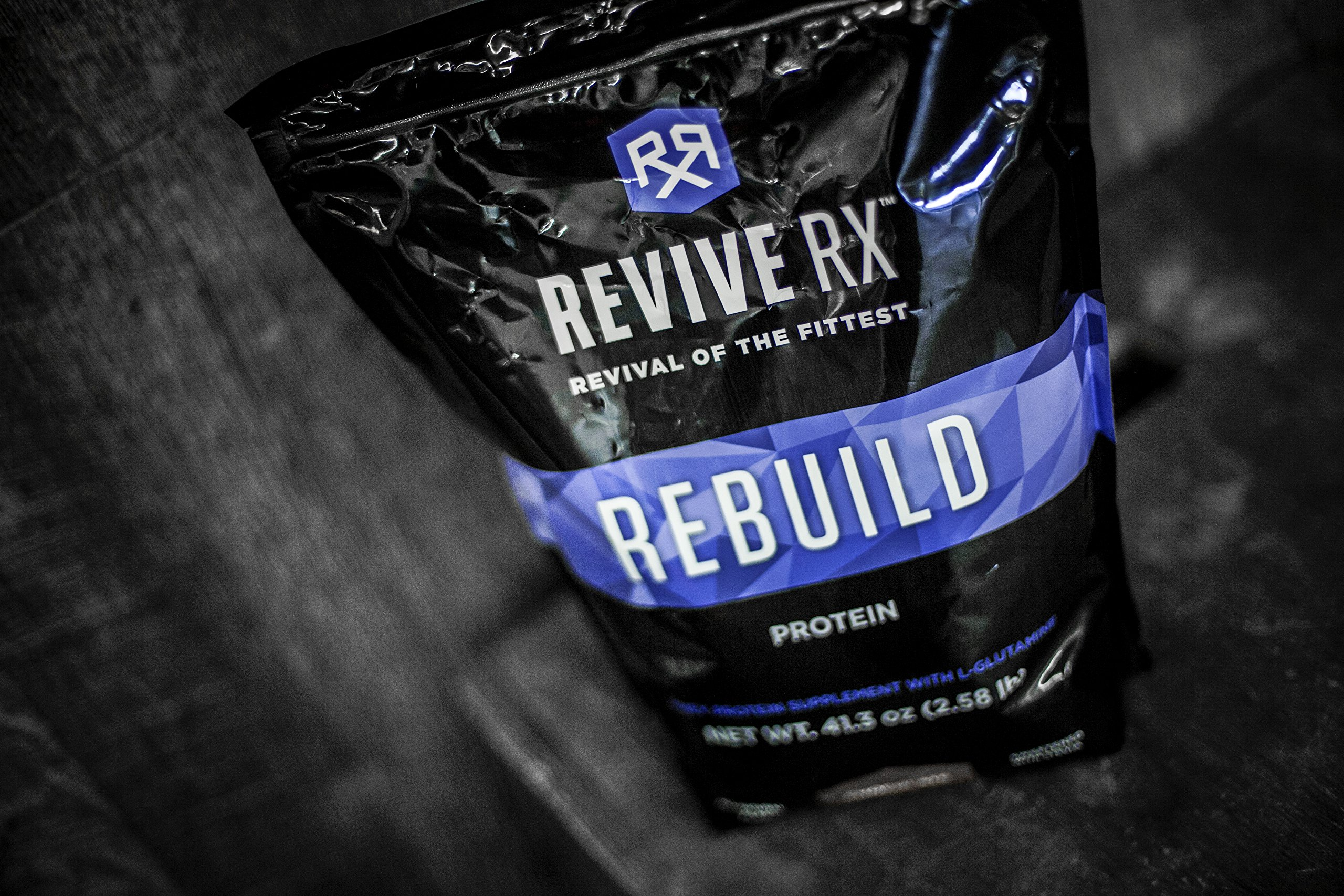 Revive Rx Rebuild Whey Protein Isolate and L-Glutamine Bulk 2.58lbs (Chocolate)