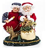 Animated MR. and Ms. Claus Music Box Figurine. Plays Carols. Great Christmas Present for Kids or Adults. New!!!