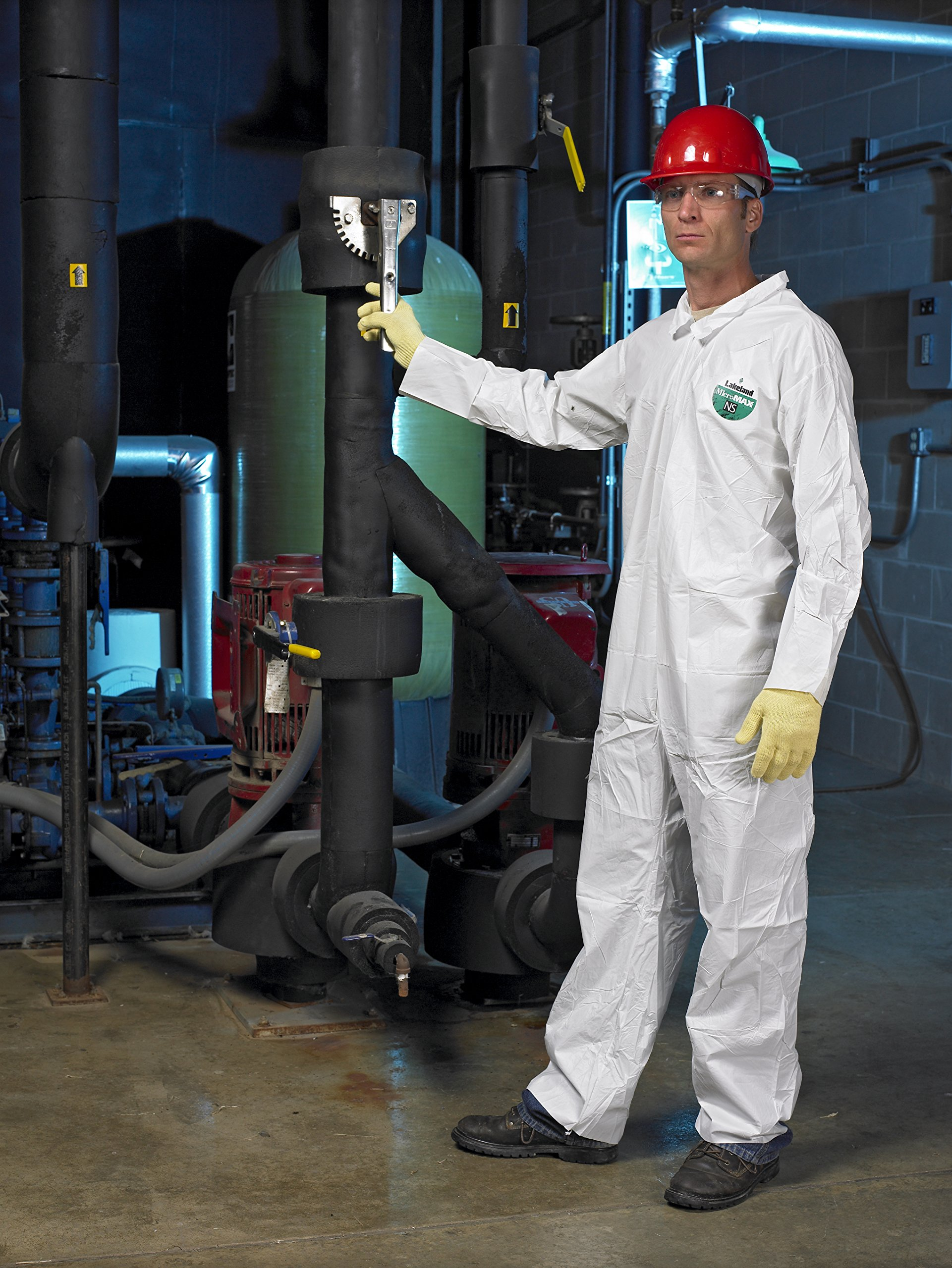 Lakeland MicroMax NS Microporous General Purpose Coverall, Open Cuff, 2X-Large, White (Case of 25) by Lakeland Industries Inc (Image #5)
