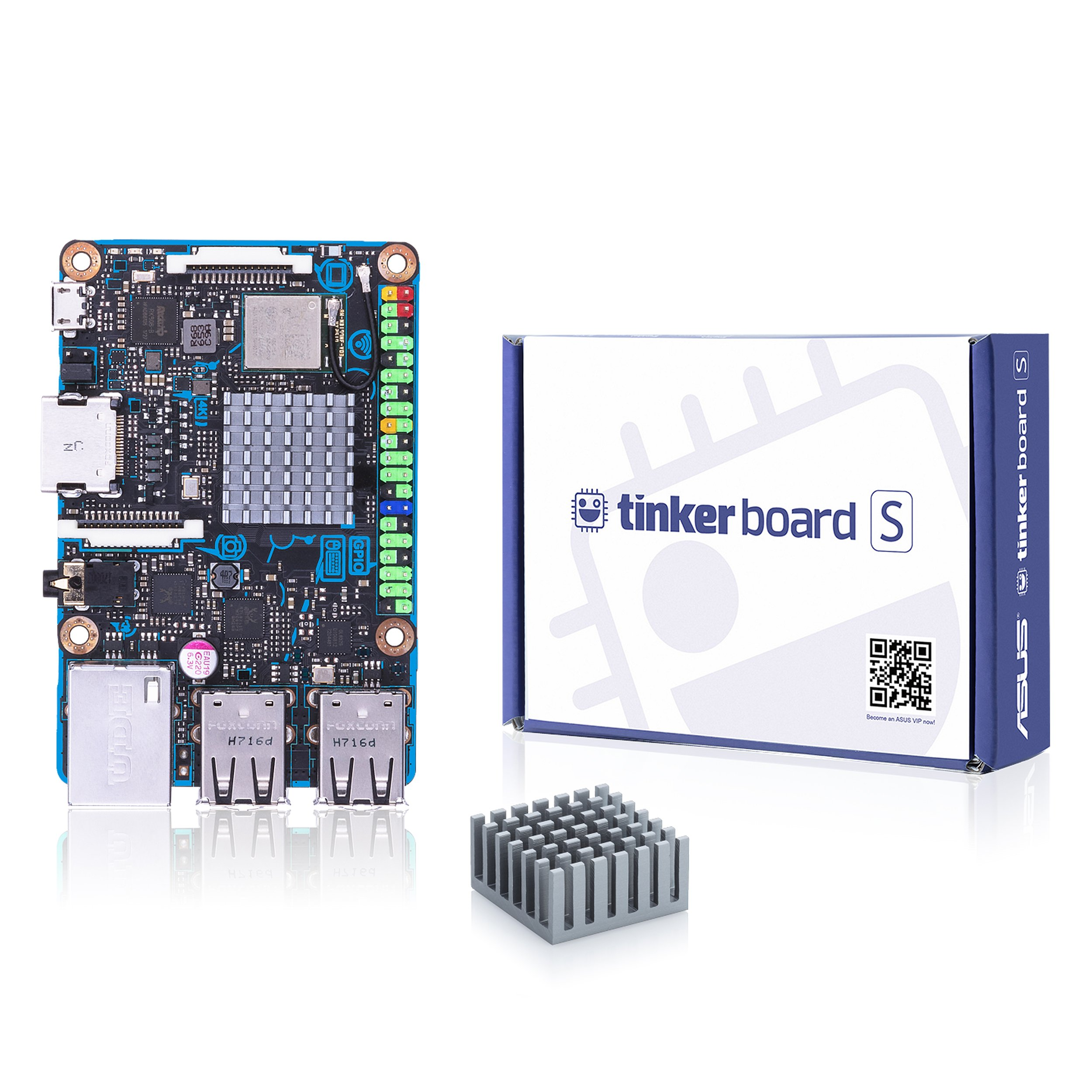 ASUS Tinker Board S Quad-Core 1.8GHz SOC 2GB RAM 16GB eMMC Storage GB LAN Wi-Fi & GPIO connectivity Motherboards