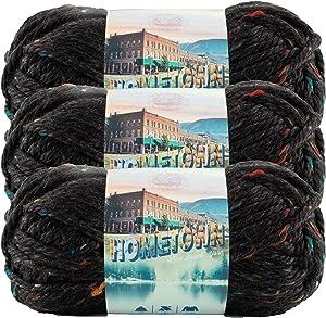 (3 Pack) Lion Brand Yarn 135-303J Hometown Yarn, Cambridge Tweed