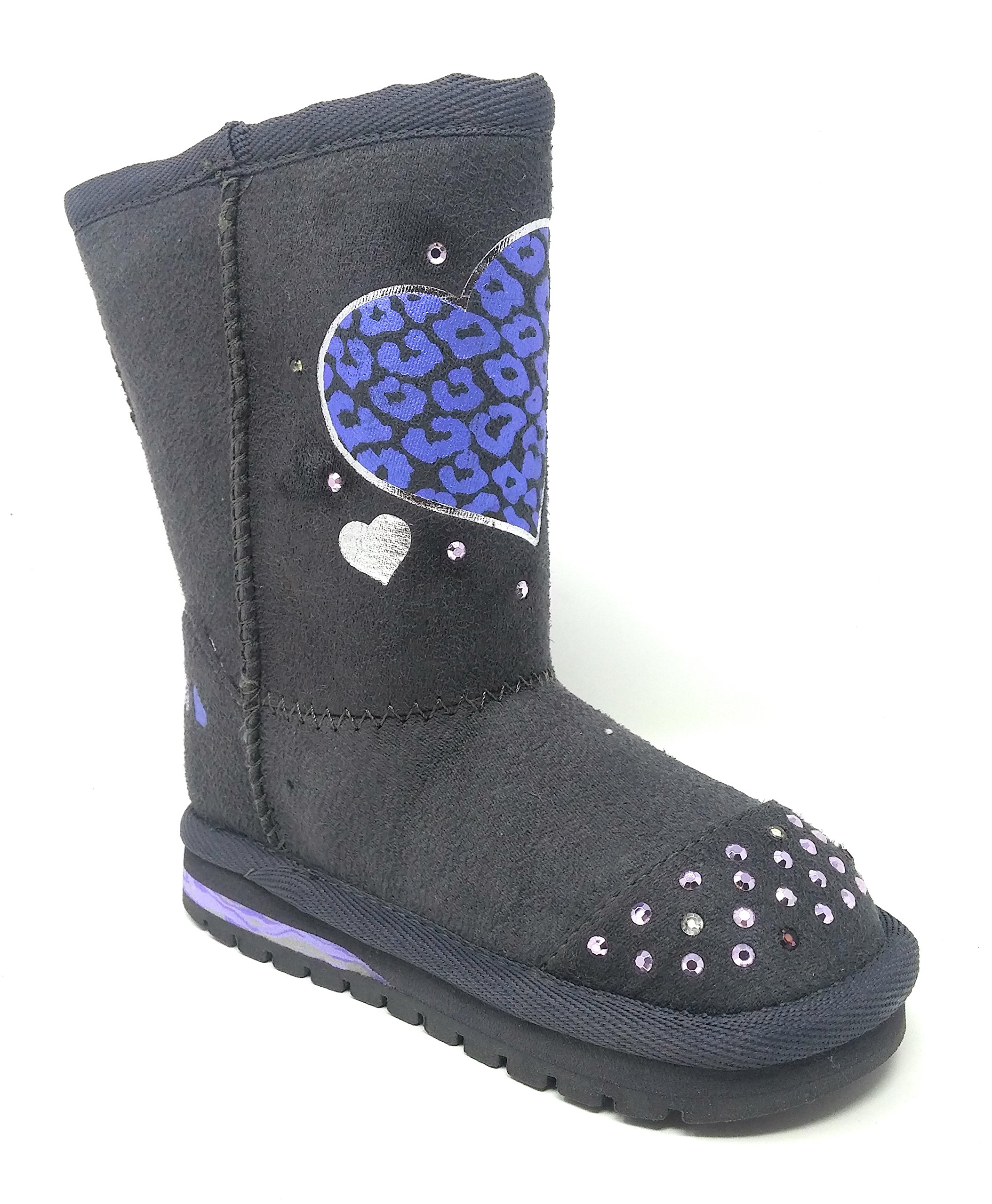 Skechers Girls Light-Up Boots Keepsakes Love Light Size 8