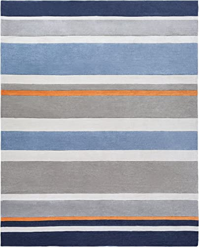 Surya CHI-1040 Chic Hand Tufted Contemporary Rug, 8-Feet by 10-Feet, Gray