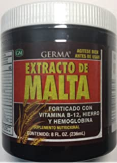 Germa Malt Extract with Vitamins Reinforced with B-12, 8 oz.