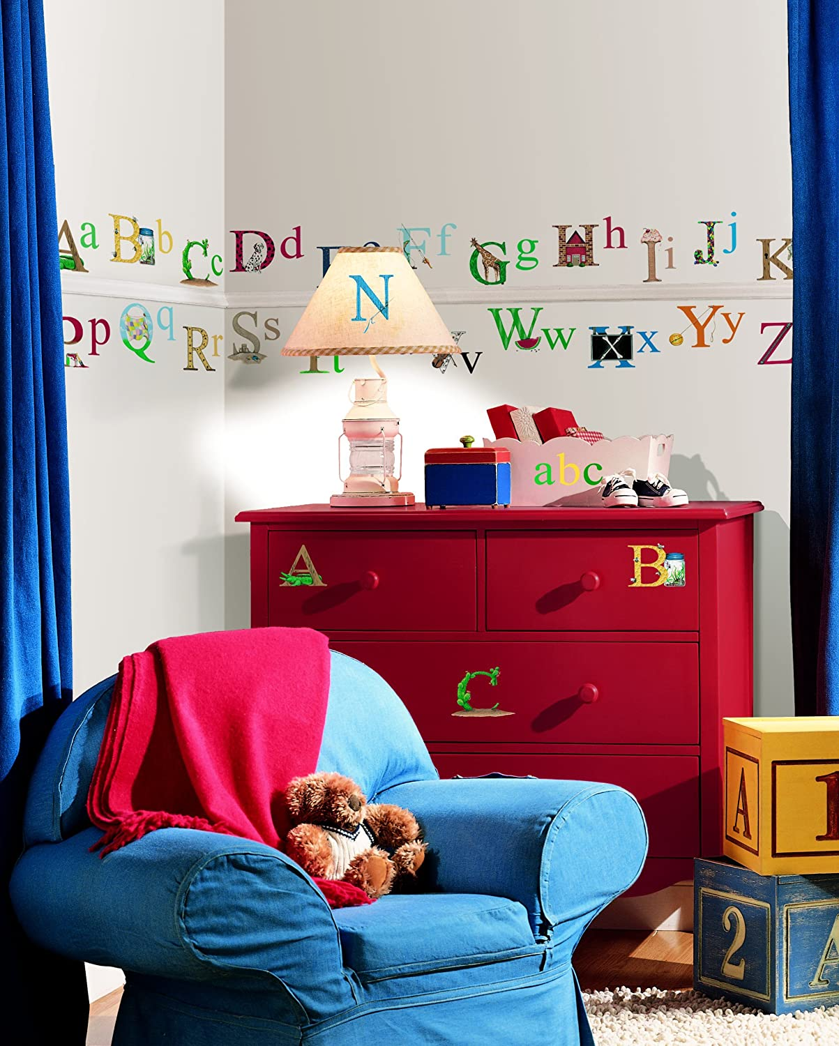 Roommates repositionable childrens wall stickers alphabet amazon roommates repositionable childrens wall stickers alphabet amazon kitchen home amipublicfo Images