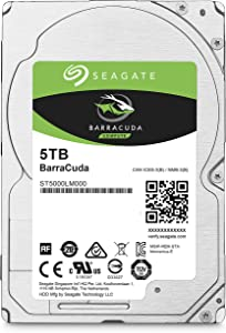 Seagate BarraCuda Internal Hard Drive 5TB SATA 6Gb/s 128MB Cache 2.5-Inch 15mm (ST5000LM000) (Renewed)
