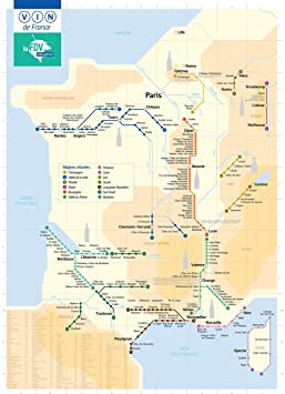 La Feuille de Vigne Affiche/Poster Plan de métro Carte des vins de