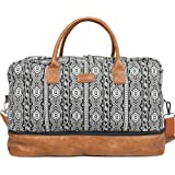 Oflamn Weekender Bag for Women Carry-On Luggage Bohemianstyle Duffle Bag Overnight Bags 3-4 Day' Travel Bags with Separated