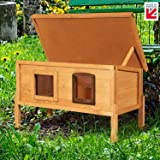 Extra Large External Self Heating Cat Kennel with One Way Privacy Window