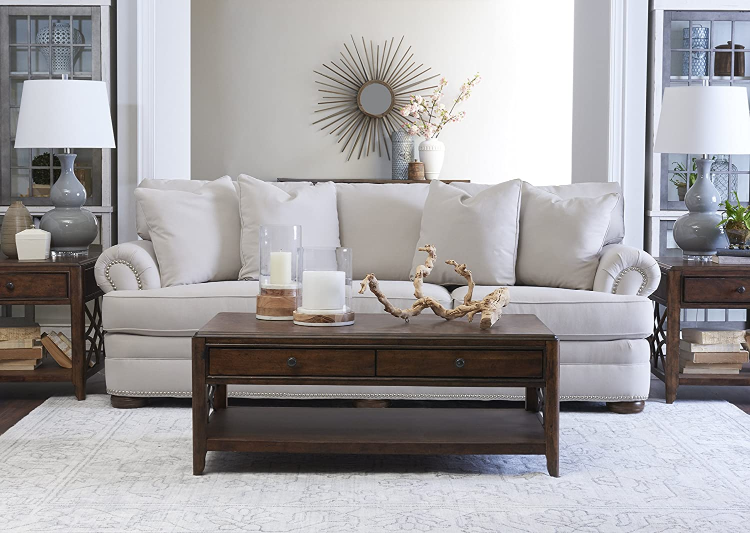 Amazon.com: Klaussner Home Furnishings Paxton - Sofá con 4 ...