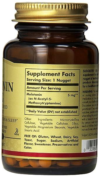 Amazon.com: Solgar Melatonin Nuggets, 5 mg, 60 Count: Health & Personal Care