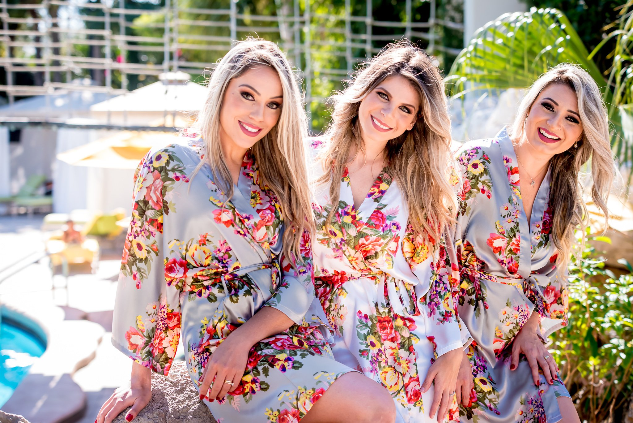 Personalized Bridesmaids Robes/Bridal robe/Floral robe/Bridesmaids Gift/Floral Silky Robe