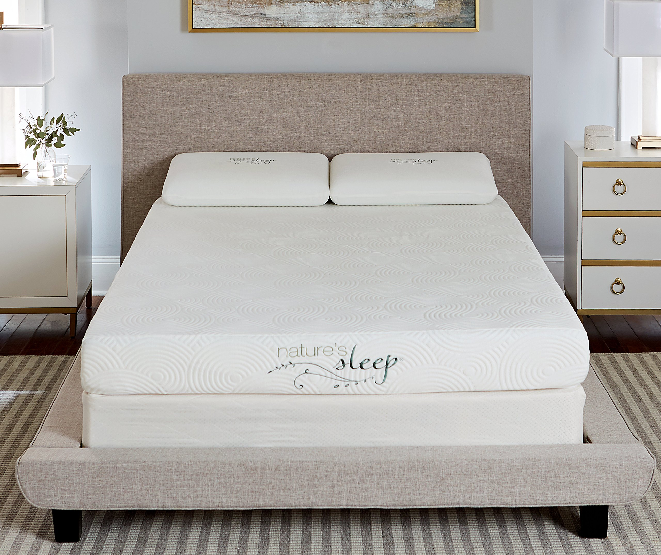 "Nature's Sleep 800LP350 8"" Gel Memory Foam Mattress, Queen"