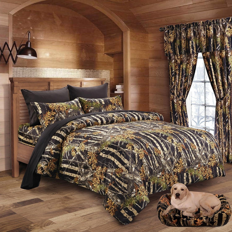 20 Lakes Woodland Hunter Camo Comforter, Sheet, & Pillowcase Set