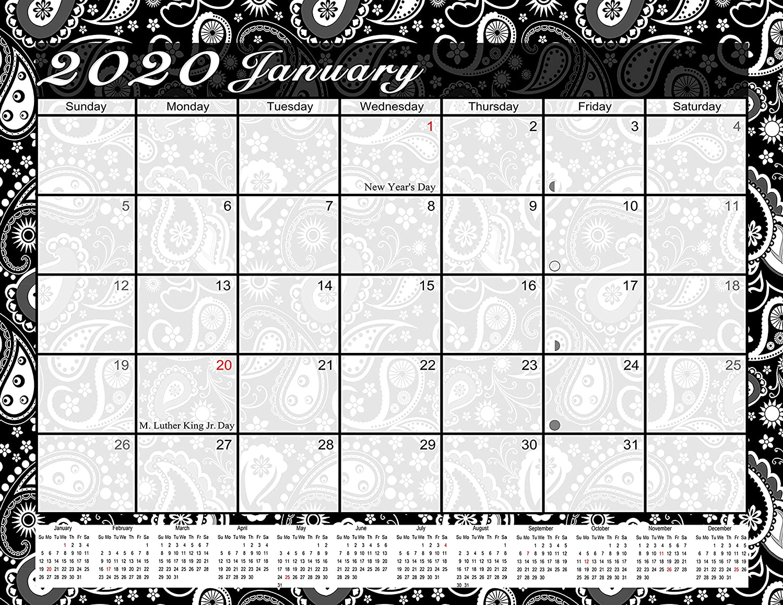 12 Months Desktop//Wall Calendar//Planner 2020 Monthly Magnetic//Desk Calendar