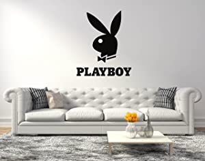 "Playboy Bunny Logo - Wall Decal for Home Living Room or Bedroom Decoration Active (Wide 20""x24"" Height Inches)"