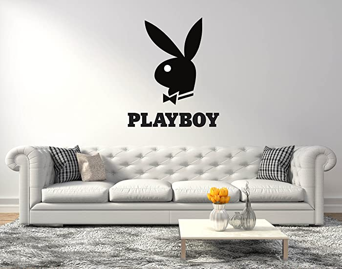 """Playboy Bunny Logo - Wall Decal for Home Living Room or Bedroom Decoration Active (Wide 20""""x24"""" Height Inches)"""