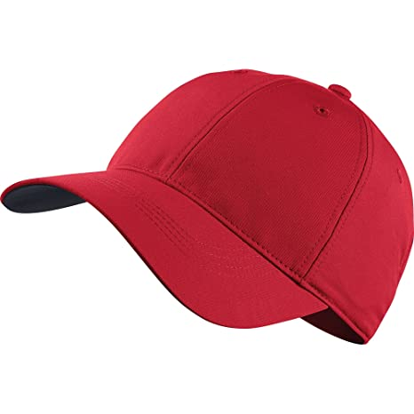 Image Unavailable. Image not available for. Color  Nike Legacy 91 Custom  Tech Men s Adjustable Golf Hat (University Red) 4fcd6fccda6