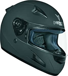 Vega X888 Full Face Helmet (Flat Black, Medium)