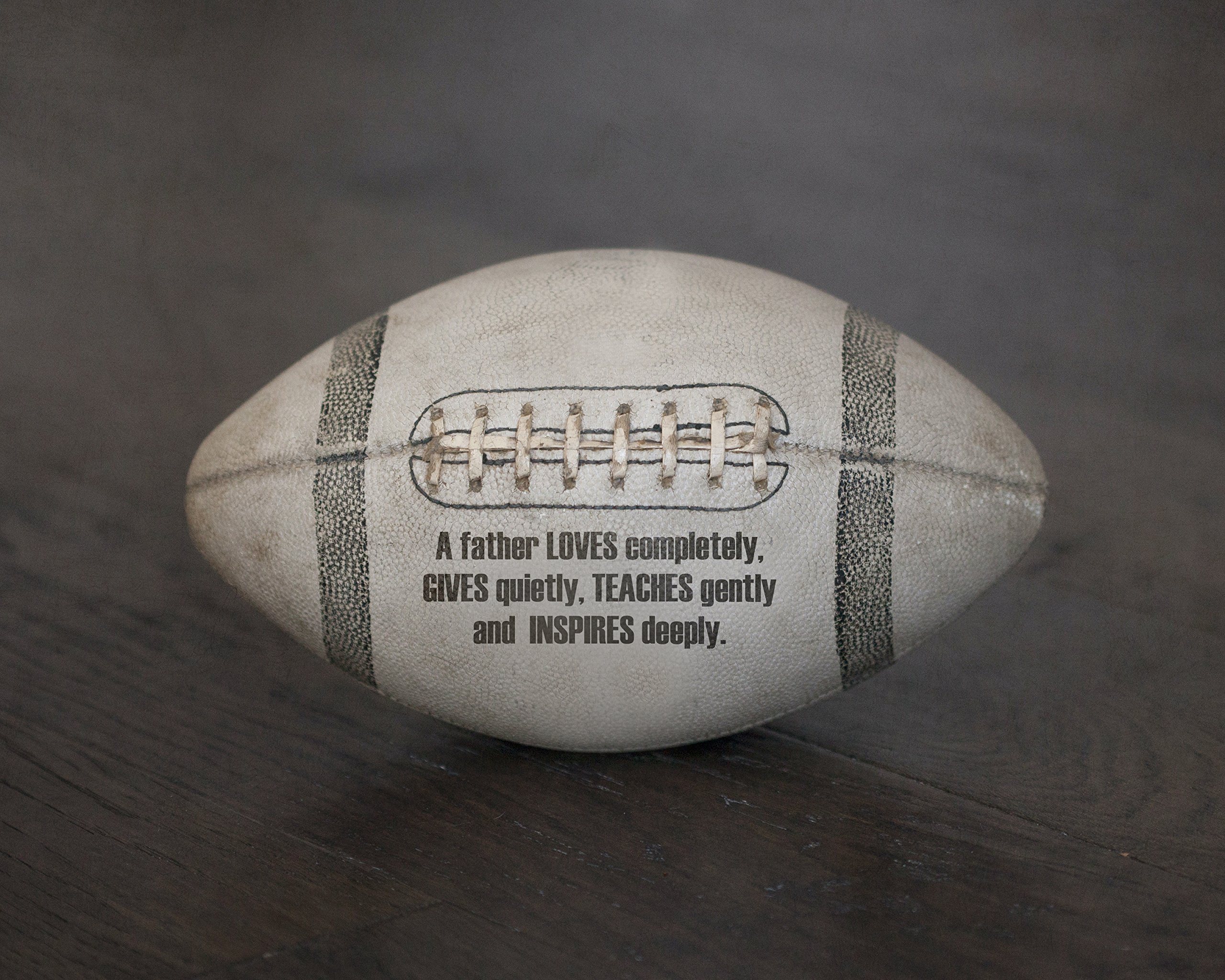 Original Sports Art Football Photograph Print with Father Love Poem Quote, Dad Gift from Kids